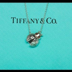 Tiffany and Co Lady Bug necklace 18k rose gold